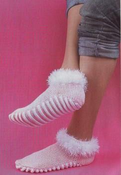 Носки с массажным эффектом. Вязание спицами.