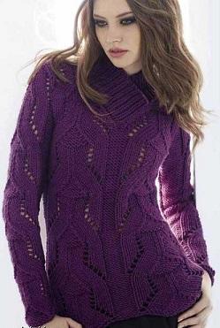 Вязание пуловера спицами для женщин.
