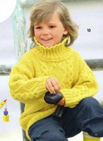 Узорчатый пуловер на мальчика спицами.
