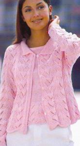 Пуловер и жакет спицами.