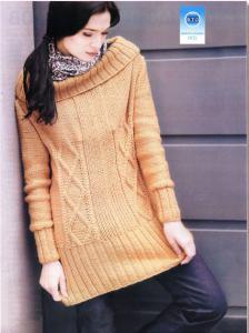Узорчатый пуловер спицами.