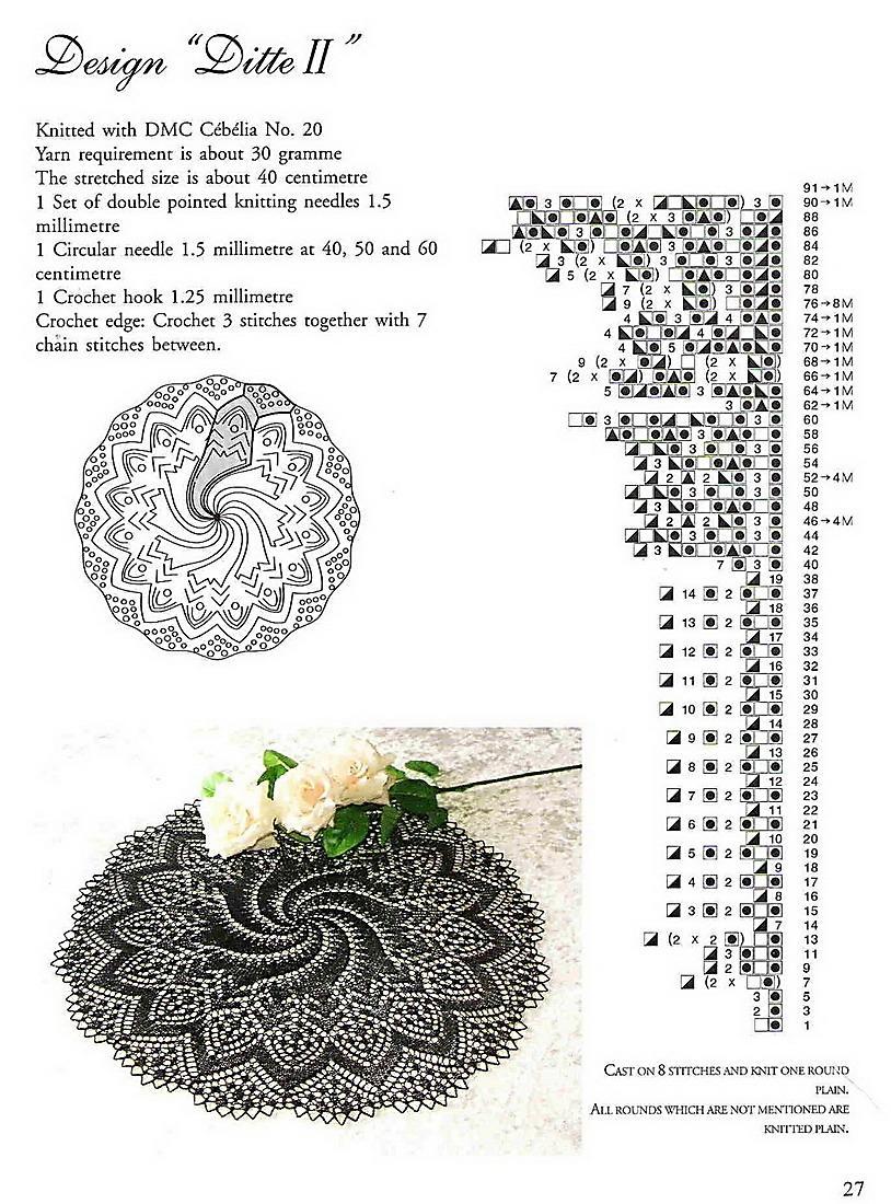 Вязание ажурных салфеток спицами схемы и описание 73