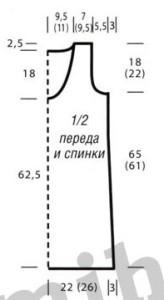 вязаное спицами платье выкройка