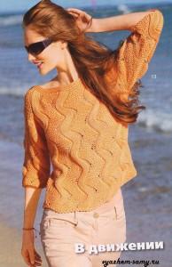 пуловер с зигзагами