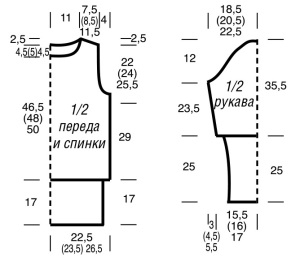 пуловер с асимметричным воротником выкройка
