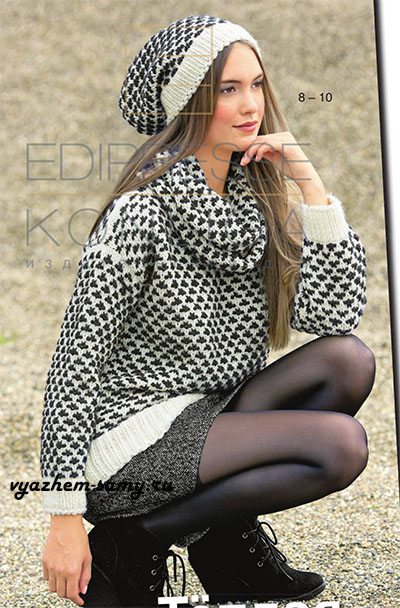 Пуловер, снуд и шапочка спицами